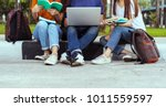 students young asian together... | Shutterstock . vector #1011559597