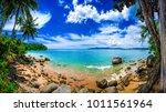 dreamy beach panorama  phuket... | Shutterstock . vector #1011561964