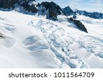 snow ground on slope mountain... | Shutterstock . vector #1011564709