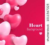 realistic hearts balloon.... | Shutterstock .eps vector #1011567325