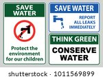 save water off sign  report all ... | Shutterstock .eps vector #1011569899