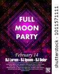 night dance party music night... | Shutterstock .eps vector #1011571111