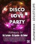 night dance party music night... | Shutterstock .eps vector #1011571195
