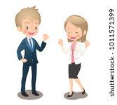 young men and women in the suit ...   Shutterstock .eps vector #1011571399