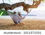 couple lover enjoy honeymoon... | Shutterstock . vector #1011571531