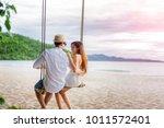 couple lover enjoy honeymoon... | Shutterstock . vector #1011572401