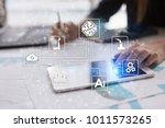 microchip  cpu  processor ... | Shutterstock . vector #1011573265