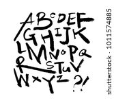 vector fonts   handwritten... | Shutterstock .eps vector #1011574885