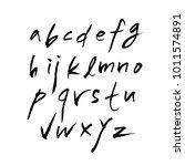 vector fonts   handwritten... | Shutterstock .eps vector #1011574891