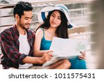 couple asian travelers are...   Shutterstock . vector #1011575431