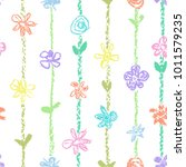 pastel color seamless pattern... | Shutterstock .eps vector #1011579235