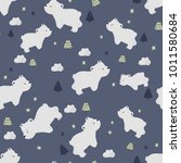 seamless pattern with cute... | Shutterstock .eps vector #1011580684