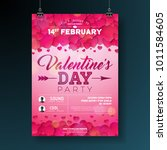 vector valentines day party... | Shutterstock .eps vector #1011584605