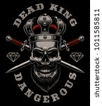 skull king vector illustration. ... | Shutterstock .eps vector #1011585811