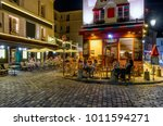 typical night view of cozy... | Shutterstock . vector #1011594271