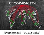 e commerce business written on... | Shutterstock . vector #101159869