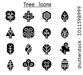 tree icon set  | Shutterstock .eps vector #1011598999