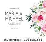 delicate side wedding vector... | Shutterstock .eps vector #1011601651