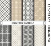 geometric vector pattern... | Shutterstock .eps vector #1011614791