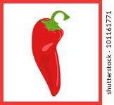 Red Hot Chili Pepper  Vector...