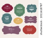 set of premium label for design ... | Shutterstock .eps vector #1011618787