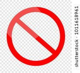 not allowed sign  | Shutterstock .eps vector #1011618961