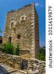 a tower in mani in greece. the... | Shutterstock . vector #1011619879