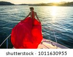 a young fashionable woman in a... | Shutterstock . vector #1011630955