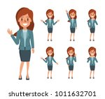 business woman character in... | Shutterstock .eps vector #1011632701