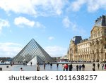 louvre museum in paris france | Shutterstock . vector #1011638257