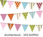 Bunting Flags On A White...