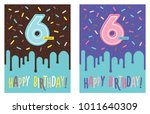 birthday greeting card with...   Shutterstock .eps vector #1011640309
