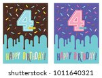 birthday greeting card with...   Shutterstock .eps vector #1011640321