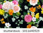 seamless pattern with tender...   Shutterstock .eps vector #1011640525