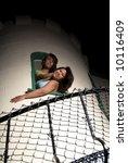 two female friends fighting it... | Shutterstock . vector #10116409