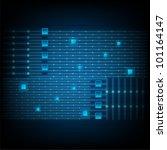 blue lines technology. jpeg... | Shutterstock .eps vector #101164147
