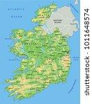 high detailed ireland physical... | Shutterstock .eps vector #1011648574