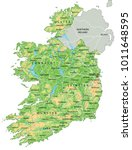 high detailed ireland physical... | Shutterstock .eps vector #1011648595