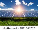 solar panels  photovoltaic  ... | Shutterstock . vector #1011648757
