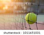 Close Up Tennis Ball Hitting To ...