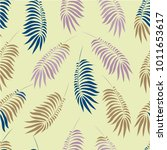 seamless pattern with multi... | Shutterstock .eps vector #1011653617