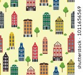 vintage pattern with beautiful... | Shutterstock .eps vector #1011656569