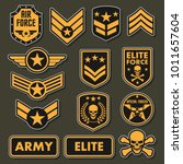 military army badges | Shutterstock .eps vector #1011657604