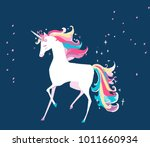 magic unicorn. vector... | Shutterstock .eps vector #1011660934