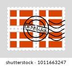 denmark flag on postage stamps   Shutterstock .eps vector #1011663247