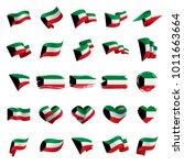 kuwait flag  vector illustration | Shutterstock .eps vector #1011663664