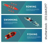 water sport. horizontal banners ... | Shutterstock .eps vector #1011664297