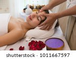 close up of masseur hand which...   Shutterstock . vector #1011667597