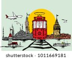 istanbul silhouette graphic... | Shutterstock .eps vector #1011669181