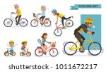 cyclists set. the concept of... | Shutterstock .eps vector #1011672217